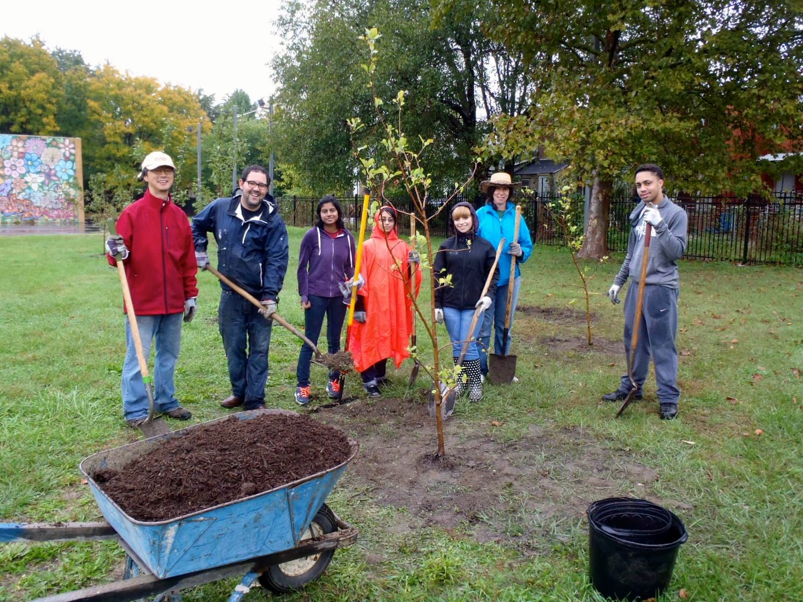 Rutgers Biology Dept - Tree Planting Day photos